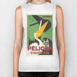 Vintage poster - Pelican Cigarettes Biker Tank