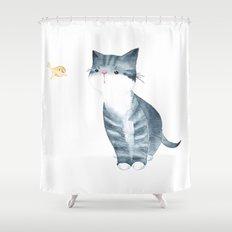 Messenger Shower Curtain
