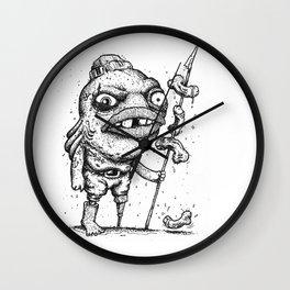 Stop fishing, for fun or food. Wall Clock