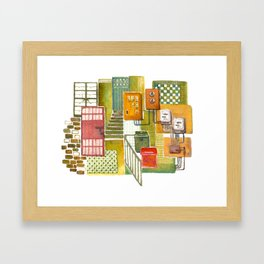 Tong Lau (Hong Kong Shop House) Framed Art Print