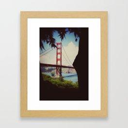 a view of Golden Gate Bridge Framed Art Print