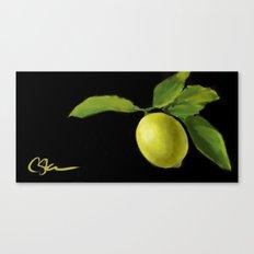 Lemon on Black DP150415a Canvas Print
