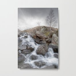 A Winter Waterfall Metal Print