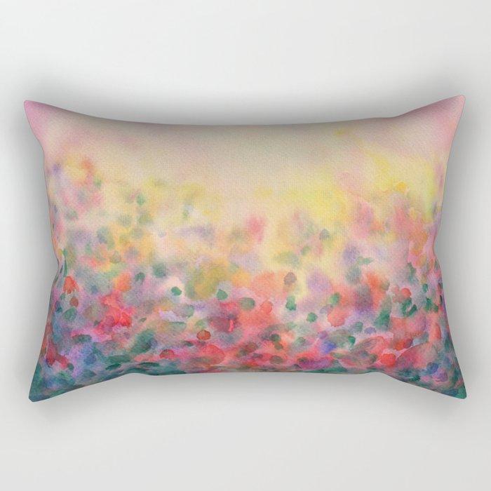 Pink Mystical Spring Rectangular Pillow