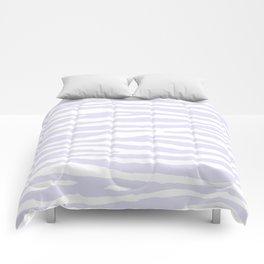Lavender & White Animal Print Comforters