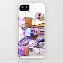 Six Dirty Paintbrushes (Photo) iPhone Case