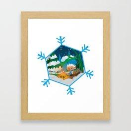 burno in winter Framed Art Print