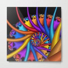 spiral art -e- Metal Print