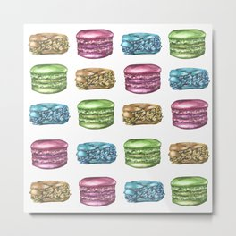 Colorful Macaroon Variety Metal Print