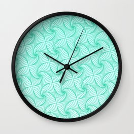 Gradient blue optic art pattern Wall Clock