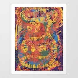 Graffiti Boheme Abstract Pattern Art Decoration by Emmanuel Signorino Art Print