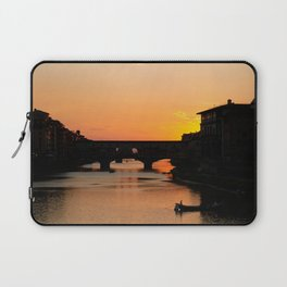 Travel Photography: Sunset Over Arno Laptop Sleeve