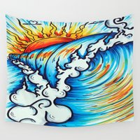 sublime Wall Tapestries featuring Sublime Wave  by Kim Shady