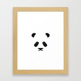 Panda Face Framed Art Print