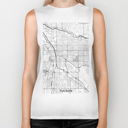 Tucson Map Gray Biker Tank
