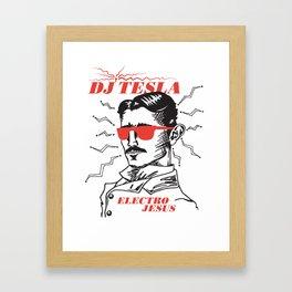 DJ TESLA ELECTRO JESUS - FOSSIL RECORDS Framed Art Print