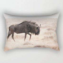 Wildebeest's long Walk Rectangular Pillow