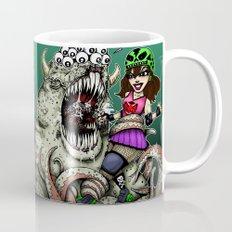 Roller Derby Girl Fighting Monster Mug