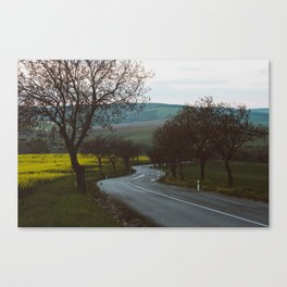 Along a rural road - Landscape and Nature Photography Canvas Print