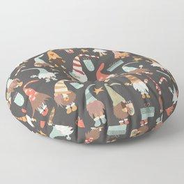 Christmas Gnomes Floor Pillow