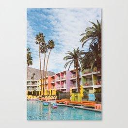 Palm Springs Pool Day VII Canvas Print