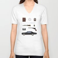 supernatural V-neck T-shirts featuring Supernatural v2 by avoid peril