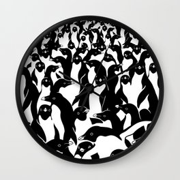 meanwhile penguins Wall Clock