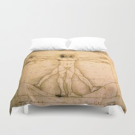 Vitruvian Man by Leonardo da Vinci Duvet Cover