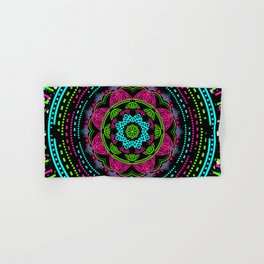 Mandala Energy in Neon Hand & Bath Towel