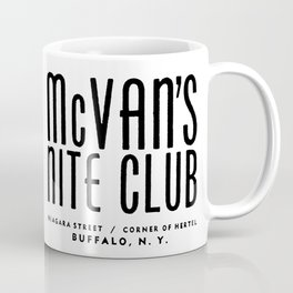 McVan's Nite Club Black Coffee Mug