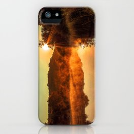 Sunrise at the lake/Sonnenaufgang am See iPhone Case