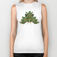 tropical Biker Tanks featuring tropical floral by Laura Graves