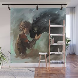 hiccup & toothless Wall Mural