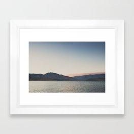 sunset over the lake ... Framed Art Print