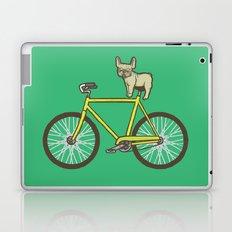 Frenchie on a Fixie Laptop & iPad Skin