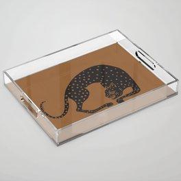 Blockprint Cheetah Acrylic Tray