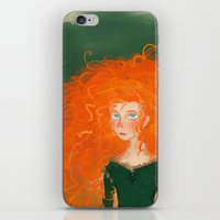 pixar iPhone & iPod Skins featuring Merida from Brave (Pixar - Disney) by Delucienne Maekerr