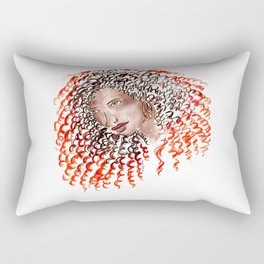 Fiery Curls Rectangular Pillow