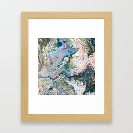 Sea and Land Acrylic Abstract Painting Framed Art Print