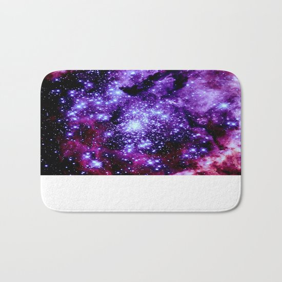 galaXy. Purple Pink Nebula Bath Mat