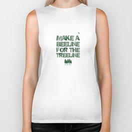 Make a beeline for the treeline Biker Tank