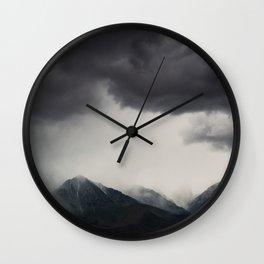 mountain storms  Wall Clock
