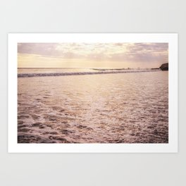 Quiet Moments on Cayucos Beach Art Print