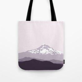 Snow Capped Mountain Landscape - Purple Tote Bag