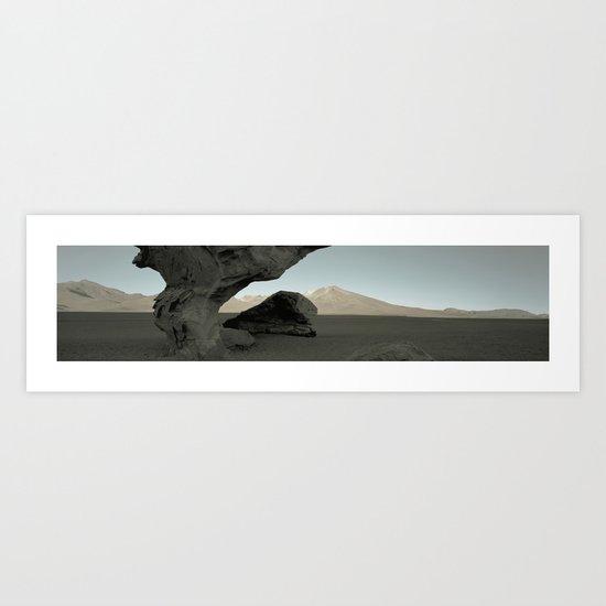 Stone tree Art Print