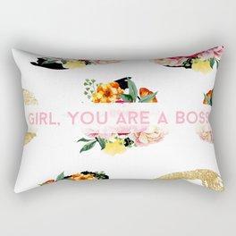 Girl, You Are A Boss Rectangular Pillow