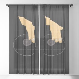 Dj Scratch Sheer Curtain
