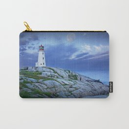 Lighthouse at Peggy's Cove in the Moonlight Carry-All Pouch