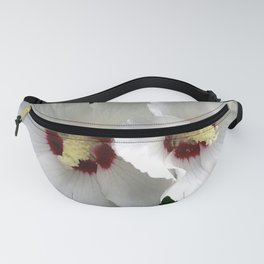 White Hibiscus Working Together Fanny Pack