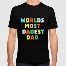 Dad LARGE Black Mens Fitted Tee